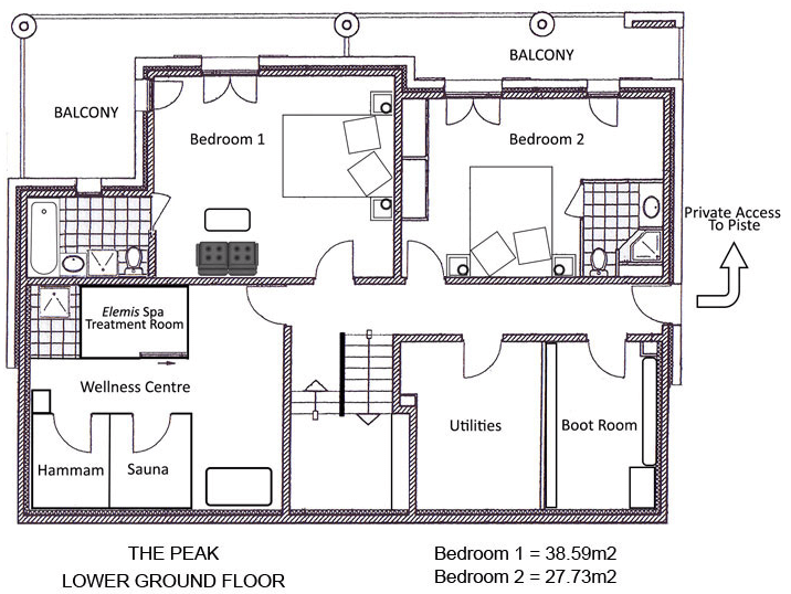 The Peak Ste-Foy-Tarentaise Floor Plan 1