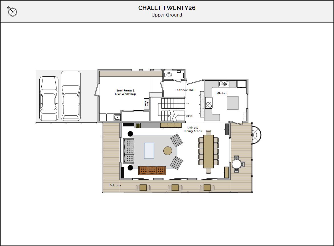 Chalet Twenty26 Morzine Floor Plan 1