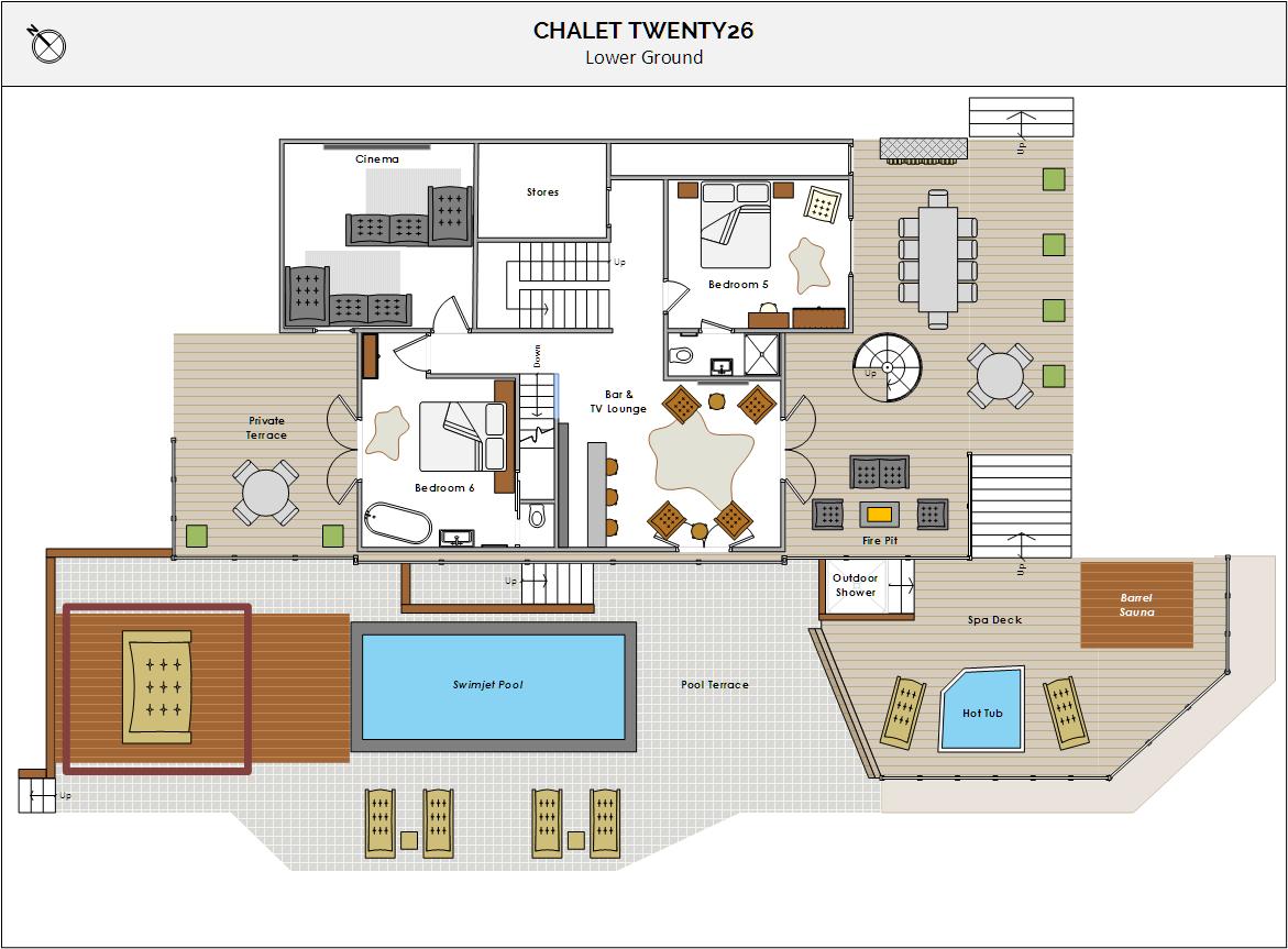 Chalet Twenty26 Morzine Floor Plan 2