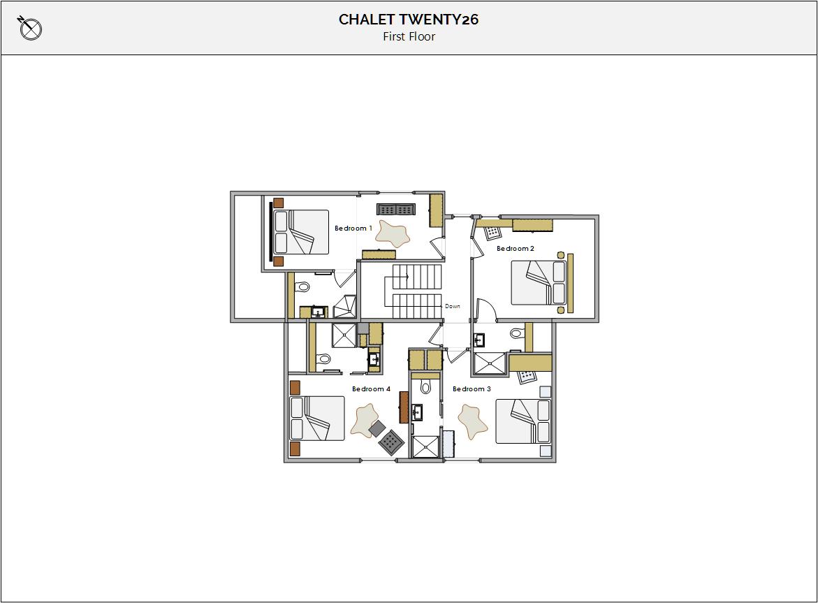 Chalet Twenty26 Morzine Floor Plan 3