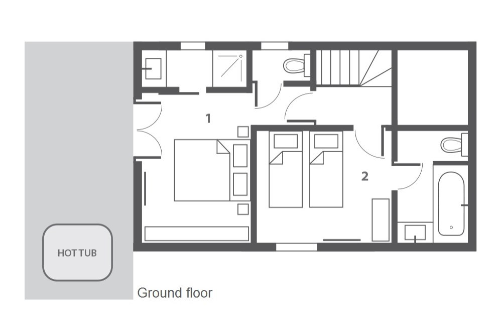 Chalet Yukon Meribel Floor Plan 1