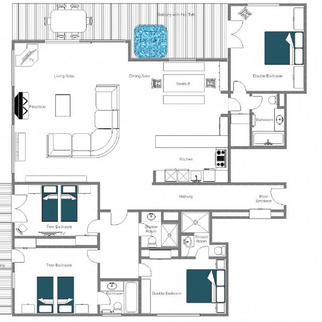 Chalet Max Verbier Floor Plan 1