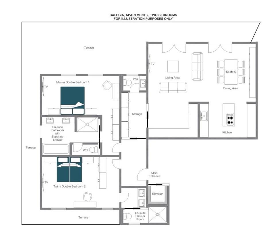 Balegia Apartment 2 Lech Floor Plan 1