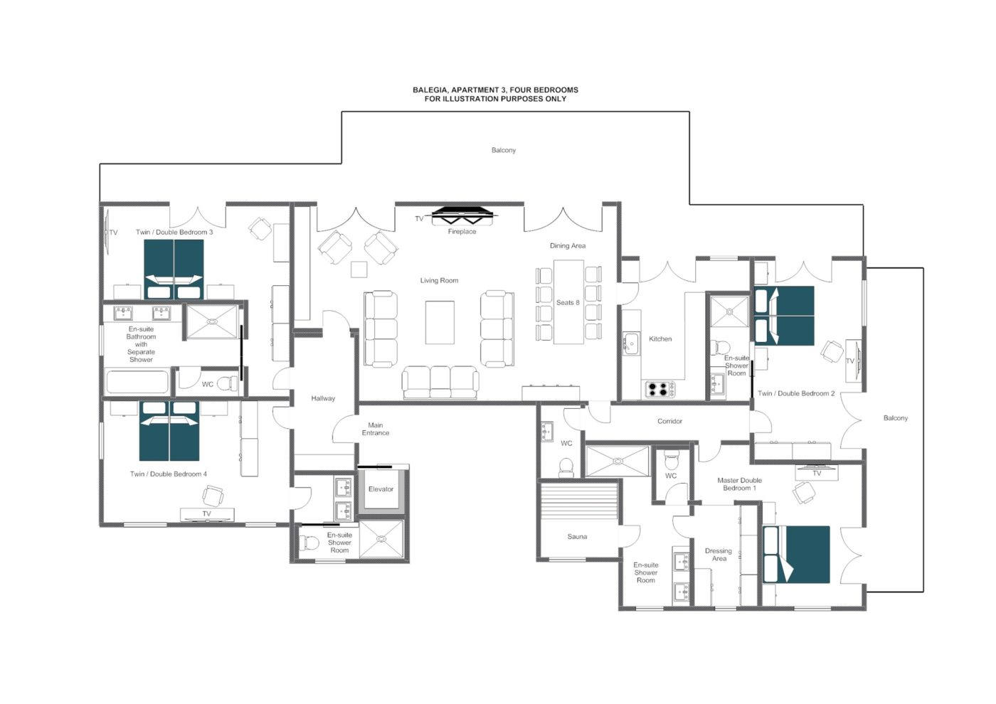 Balegia Apartment 3 Lech Floor Plan 1