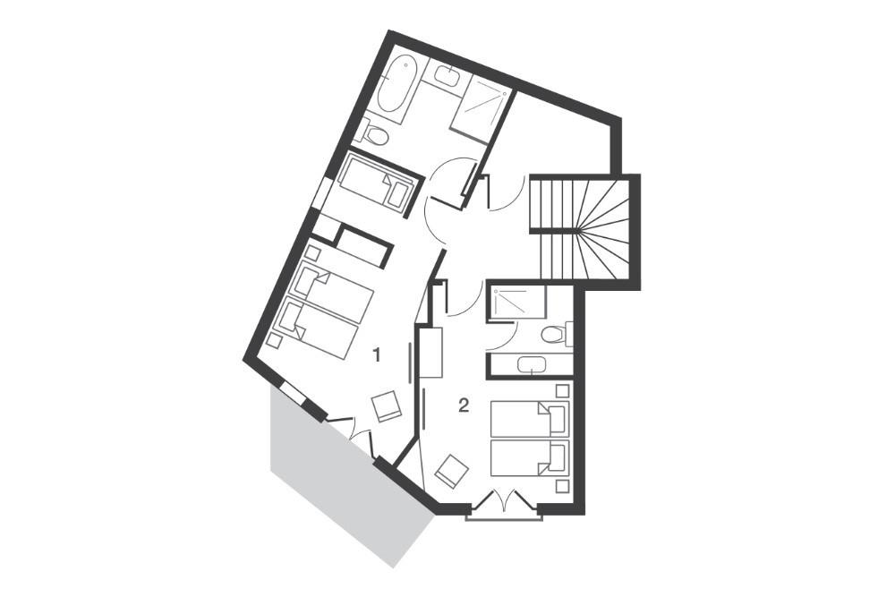 Chalet Kobuk Avoriaz Floor Plan 2