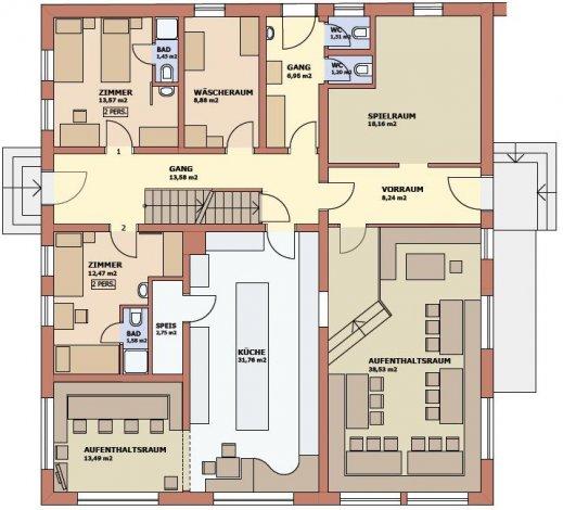 Chalet Auhof Flachau Floor Plan 1