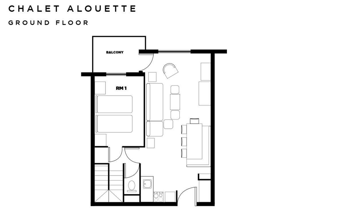 Chalet Alouette Les Arcs Floor Plan 1