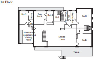 Chalet Les Brames Meribel Floor Plan 2