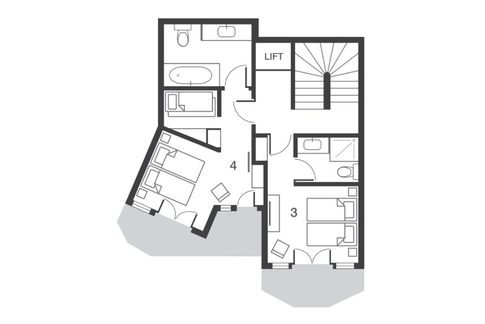 Chalet Beluga Avoriaz Floor Plan 4