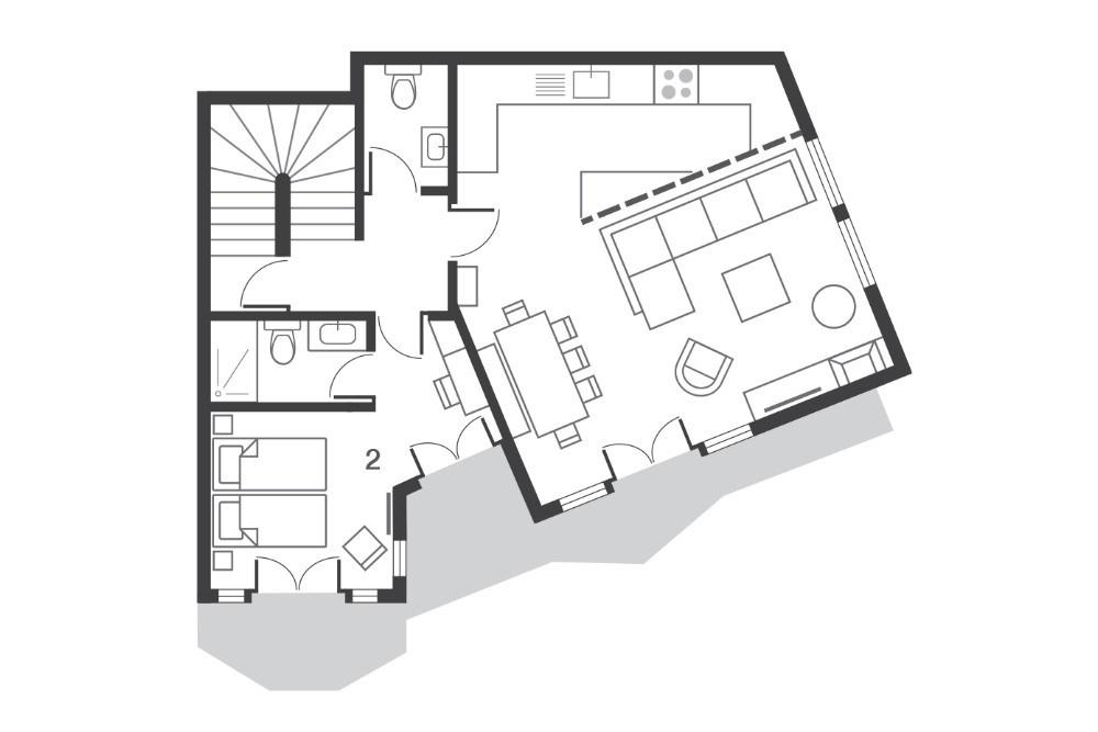 Chalet Ossetra Avoriaz Floor Plan 1
