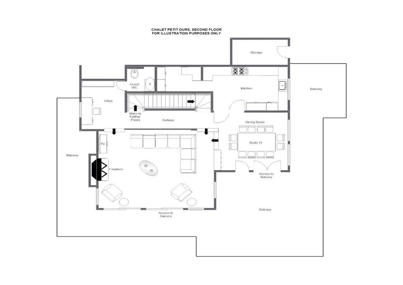 Chalet Petit Ours Verbier Floor Plan 2