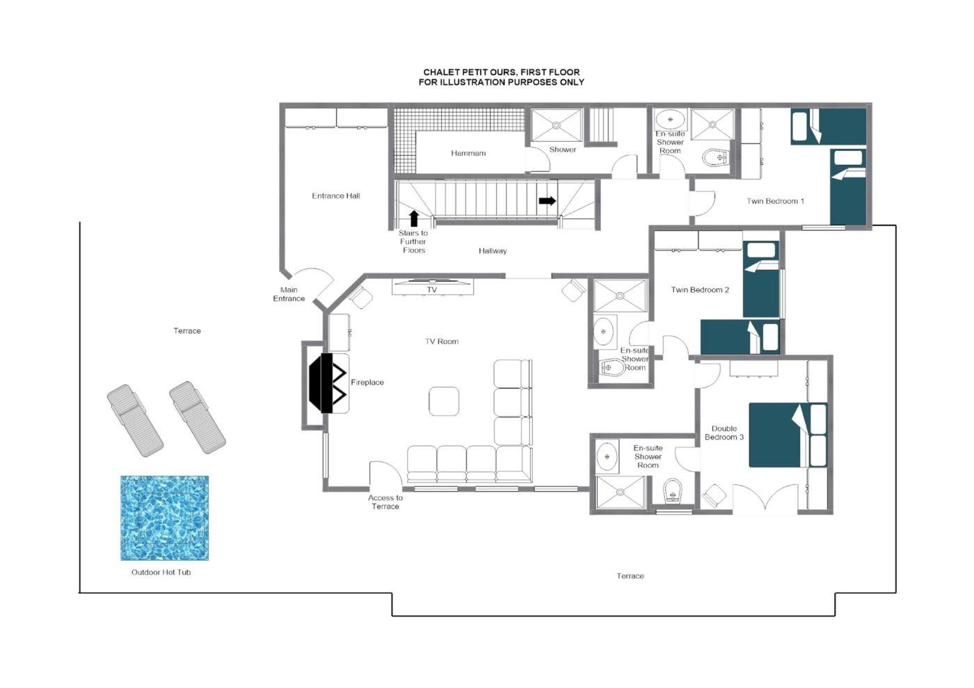 Chalet Petit Ours Verbier Floor Plan 3