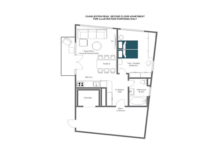 Charleston Peak Zermatt Floor Plan 1