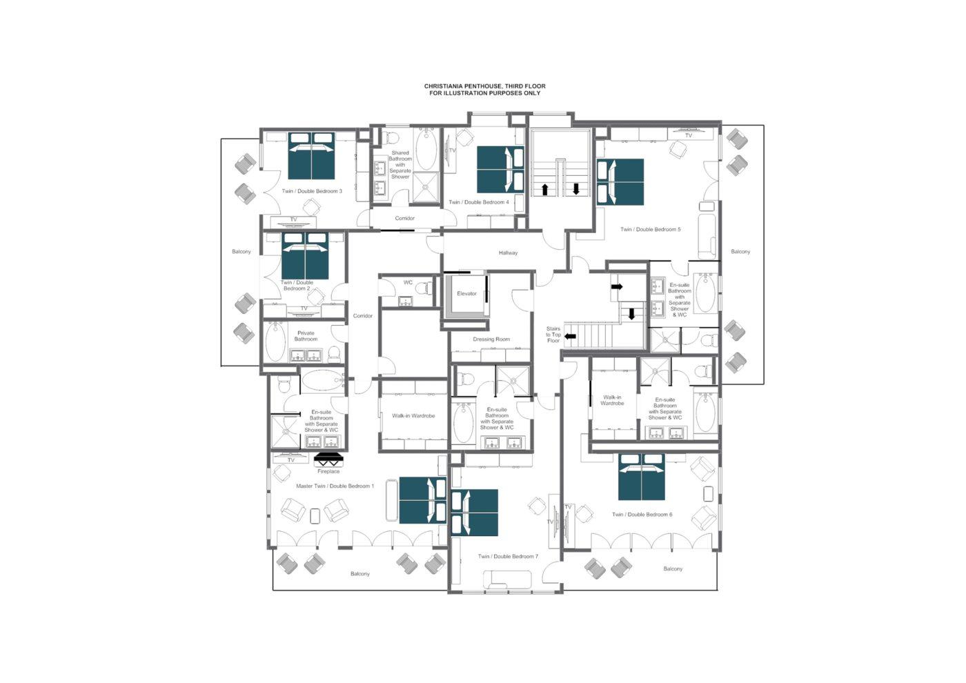 Christiania Residence Zermatt Floor Plan 2
