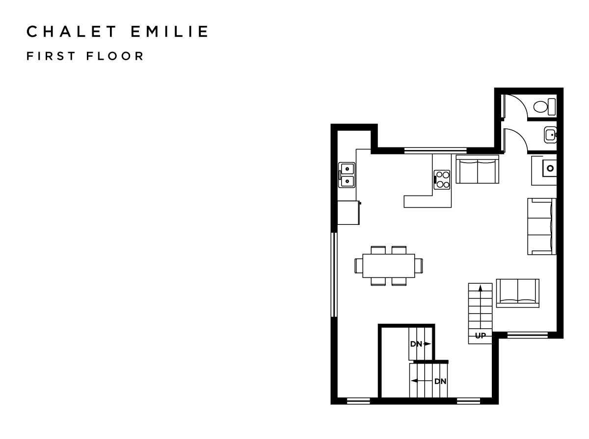 Chalet Emilie Meribel Floor Plan 1