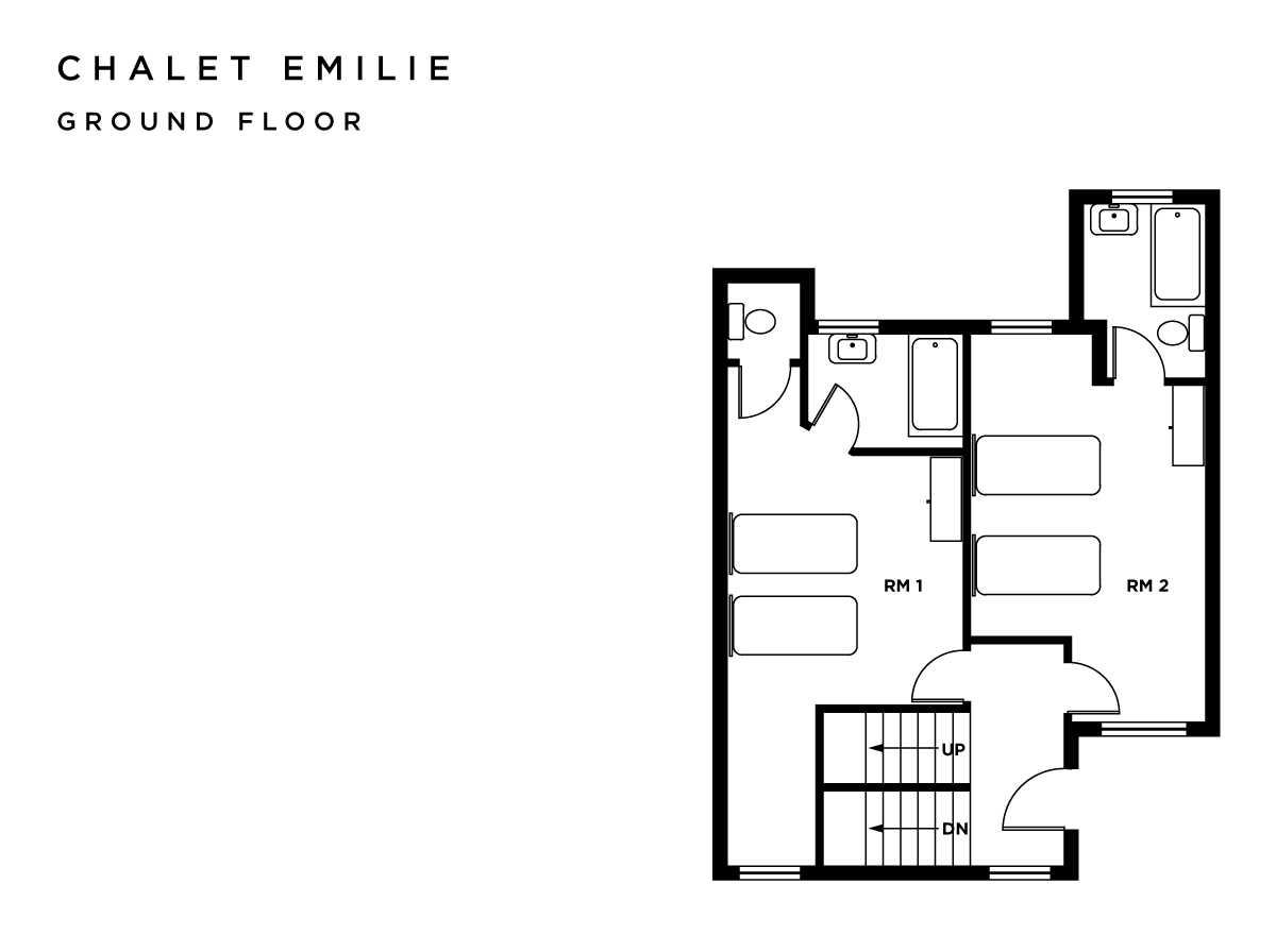 Chalet Emilie Meribel Floor Plan 3