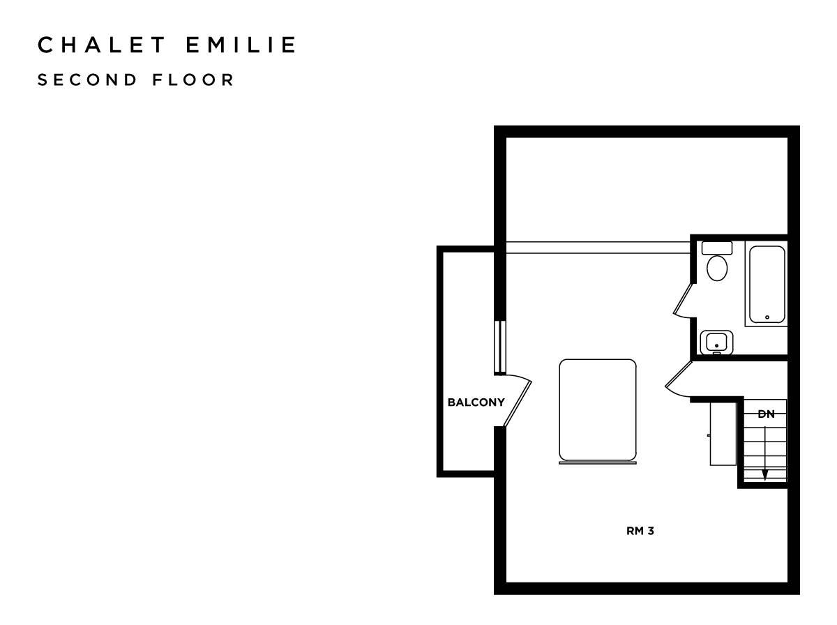 Chalet Emilie Meribel Floor Plan 2