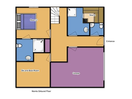 Chalet Lys Blanc Meribel Floor Plan 1