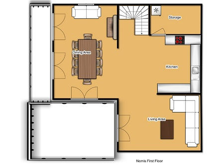 Chalet Lys Blanc Meribel Floor Plan 2