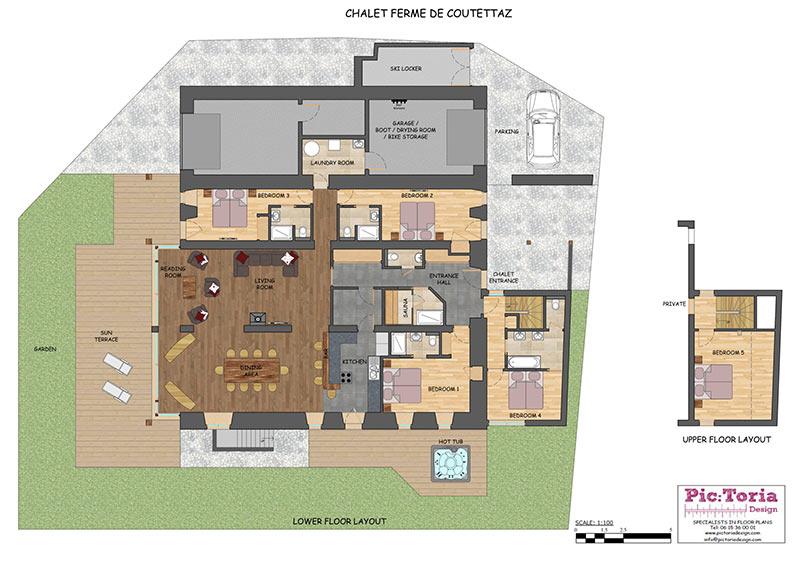 Ferme de la Coutettaz Morzine Floor Plan 1
