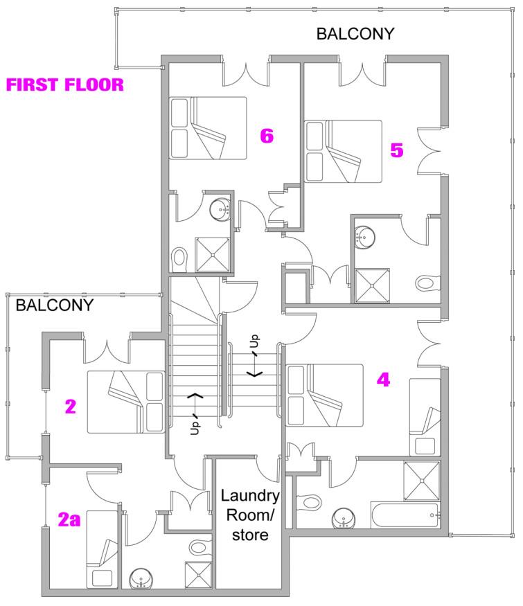 Chalet StarSki Morzine Floor Plan 1