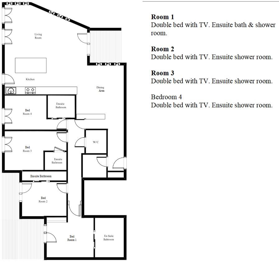 Apartment Tournesol Val d'Isere Floor Plan 1