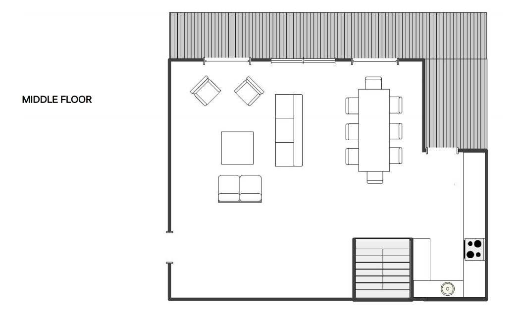 Chalet Dunmore Verbier Floor Plan 1