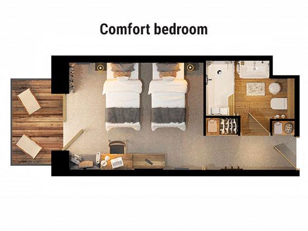 Hotel Avancher Val d'Isere Floor Plan 1