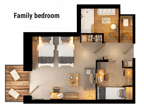 Hotel Avancher Val d'Isere Floor Plan 2