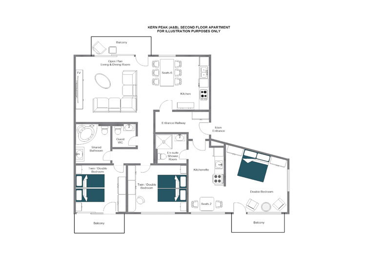 Kern Peak Zermatt Floor Plan 1