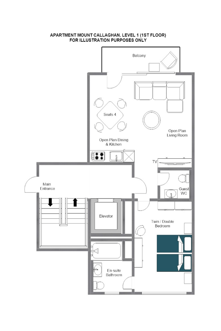 Mount Callaghan Zermatt Floor Plan 1
