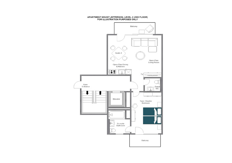 Mount Jefferson Zermatt Floor Plan 1