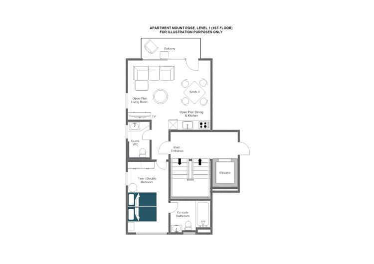 Mount Rose Zermatt Floor Plan 1
