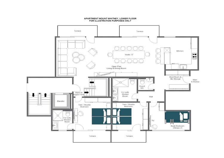 Mount Whitney Zermatt Floor Plan 1
