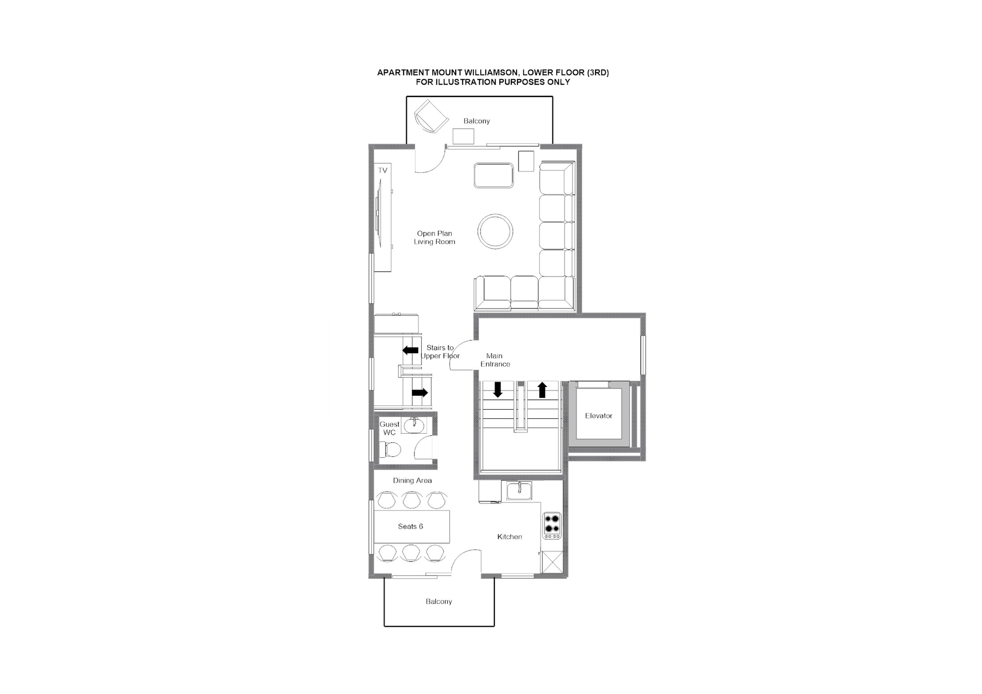 Mount Williamson Zermatt Floor Plan 1