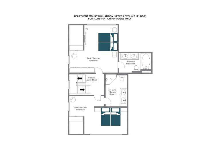 Mount Williamson Zermatt Floor Plan 2