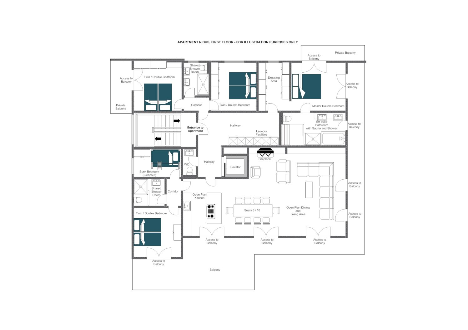 Nidus Apartment 3 Lech Floor Plan 1