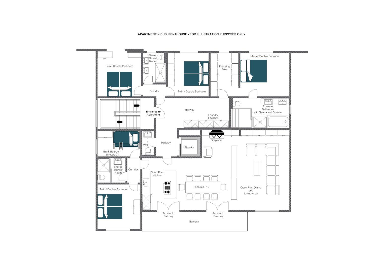 Nidus Penthouse Lech Floor Plan 1
