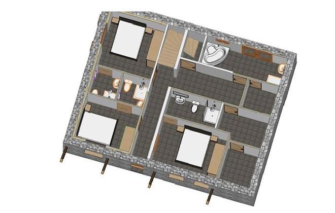 Chalet Le Cabri Val d'Isere Floor Plan 1