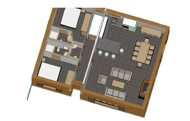 Chalet Le Cabri Val d'Isere Floor Plan 2