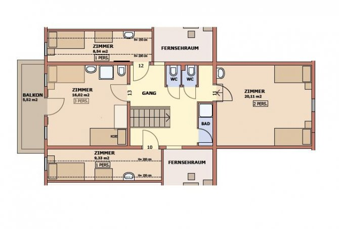 Chalet Auhof Flachau Floor Plan 3