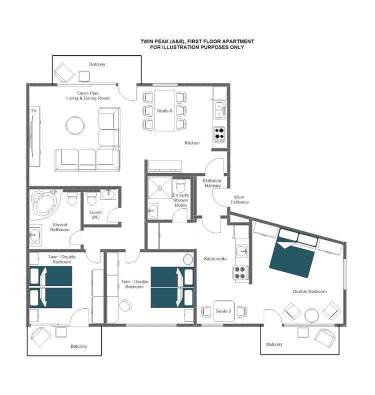 Twin Peak Zermatt Floor Plan 1