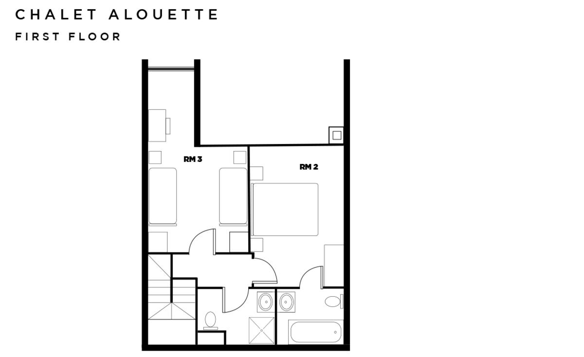 Chalet Alouette Les Arcs Floor Plan 2